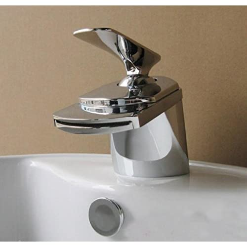 best GAOF Wide mouth waterfall Hot and cold copper alloy Vertical Basin Water tap Faucet