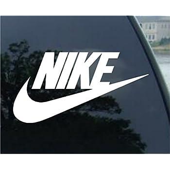 Nike logo vinyl sticker decal 4 white