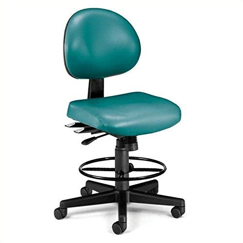 - OFM 241-VAM-DK-602 24 Hours Anti-Microbial Vinyl Computer Task Chair with Drafting Kit