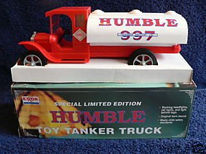 Exxon Special Edition Humble Toy Tanker Truck
