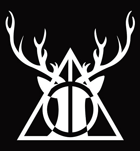 (UR Impressions Patronus Stag Deathly Hallows Decal Vinyl Sticker Graphics Cars Trucks SUV Vans Walls Windows Laptop|White|5.5)