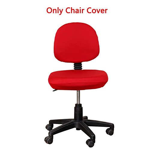 Loghot Comfortable Soft Chair Covers Split Computer Office Desk Slipcovers Stretch Rotating Polyester Spandex Chair Pads Covers (Wine Red) (Rolling Chair Cover)