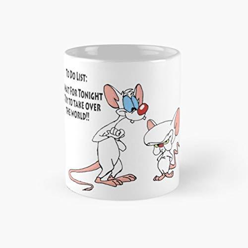 World Takeover Mug, pinky and the brain Cup, 11 Ounce Ceramic Mug, Perfect Novelty Gift Mug, Funny Gift Mugs, Funny Coffee Mug 11oz, Tea Cups 11oz ()