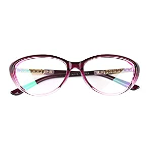 Agstum Womens Cat eye Glasses Frame Optical Eyeglasses Clear lens (Purple, 56)
