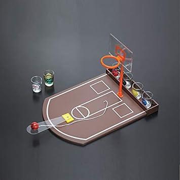Zgifts Mini Mesa de Baloncesto Juego de Beber Competencia portátil de Escritorio Deportes Tiro Juguete Doble aro-Oficina Bar Partido Juego para Interior al Aire Libre: Amazon.es: Deportes y aire libre