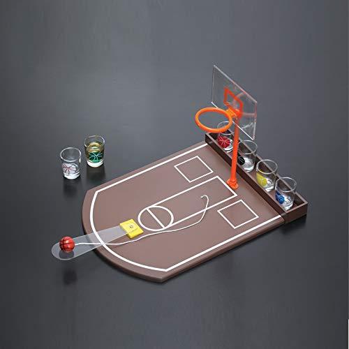 Zgifts Mini Mesa de Baloncesto Juego de Beber Competencia portátil ...