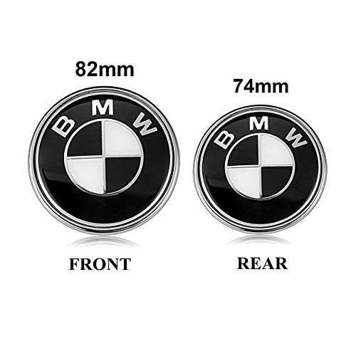 Bmw 5 Series 2001 Model - BMW Emblems Hood and Trunk, 82mm + 74mm Black BMW Logo Replacement for ALL Models BMW E46 E30 E36 E34 E38 E39 E60 E65 E90 325i 328i X3 X5 X6 1 3 5 6 7 (82MM+74MM)