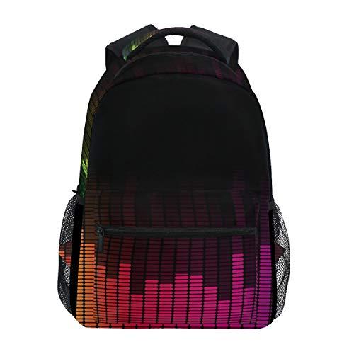 ILEEY Music Hip Hop Aqualaser Equalizer School Backpack Computer Book Bag Travel Hiking Camping Casual Daypack for Girls Boys Men and Women (Best Equalizer For Hip Hop)