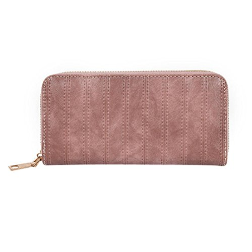 Purse,AfterSo Womens Zipper PU Leather Wallet Long Clutch Card Holder Purse (19cm/7.48