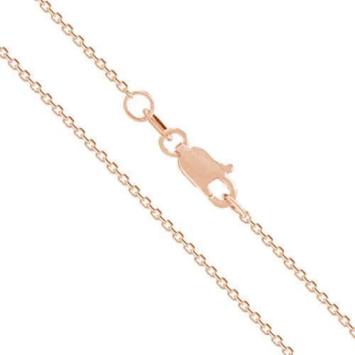 Solid Rose Cable Chain Necklace