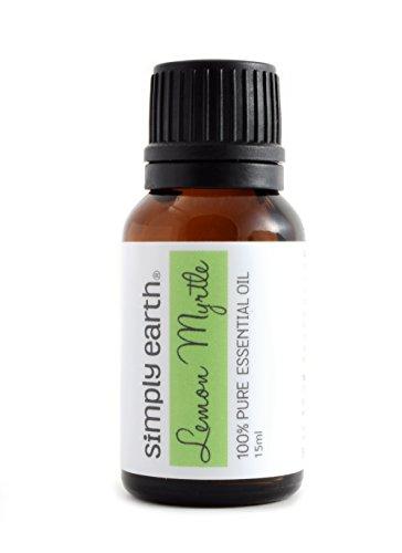 Lemon Myrtle Essential Oil by Simply Earth - 15 ml, (Australian Lemon Myrtle Oil)