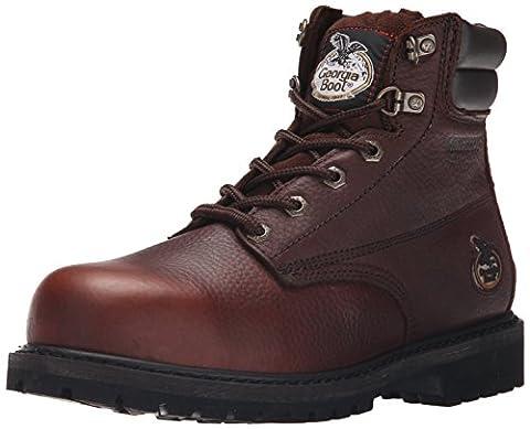 Georgia Men's Oiler-M Steel Toe Work Boot, Brown, 10.5 M US