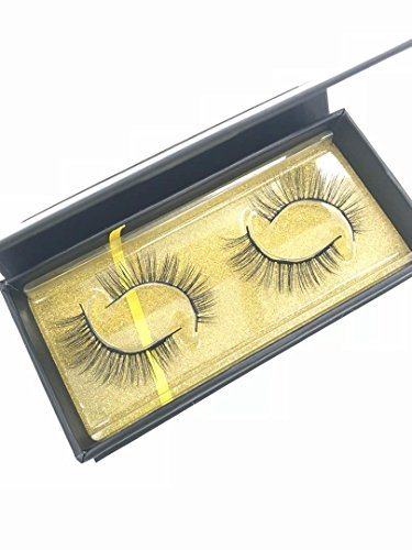 Beautiful 3D Magnetic Eyelashes Super Flexible Hand Made of 100% Vivid and Shiny Mink Fur, Flat Eyelash Cotton Band