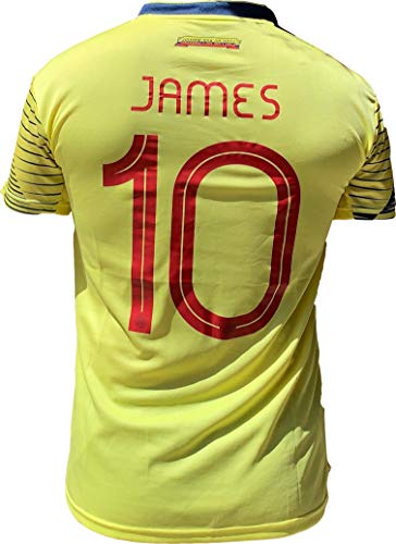K4NCHA Colombian Soccer Jersey FCF 2020 for Men Printed No 10 James (Yellow, Medium) (Clothing Fly Spanish)