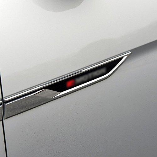 ABS Air Vent Hood Intake Fender Trim Side Wing Fender Emblem Badge Decoration Cover Trim 4pcs Car Styling Accessories Fit for Volkswagen VW Atlas 2017 2018