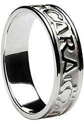 Men's Mo Anam Cara (My Soul Mate) 10K White Gold Ring