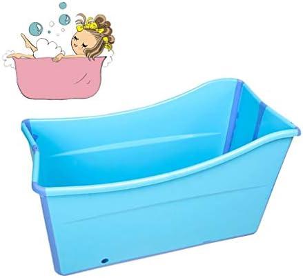 折りたたみバスタブ GYF 子供用ポータブル折りたたみ式浴槽プール大人用/高齢者用の大型の自立型コーナーバスタブバスバケツスパニング、カバー付きの長い断熱時間 2色折りたたみ式大浴場 (Color : Pink)