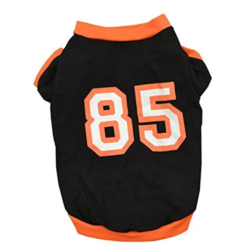 Puppy Clothes,Haoricu Summer Pet T Shirt for Pets Small Dogs Vest T Shirt Apparel (XS, Black) (Boys Halloween Clothes)