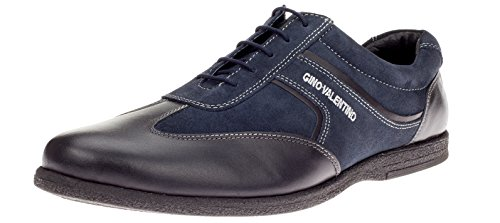 Gino-Valentino-Mens-Go-Kart-Leather-Shoes-Fashion-Sneaker