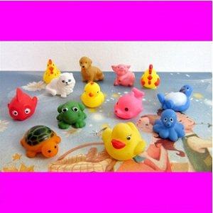 UDTEE Funy / Mignon Rainbow Color caoutchouc Huit Outres de mer pour bébé / Little Enfants / bébé / baignoire Toddle Toy, Paquet de 8