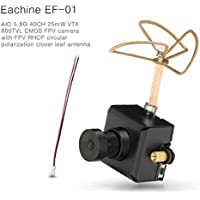 Crazepony Eachine EF-01 FPV Micro AIO Camera 40CH Transmitter Combo for FPV Indoor Drone like Blade Inductrix etc