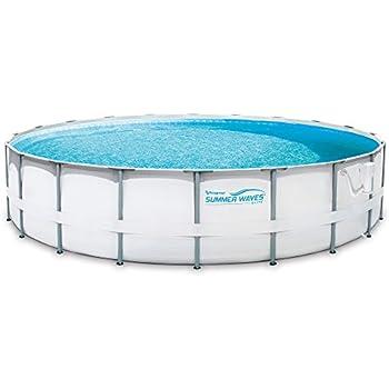 Summer Waves Elite 20' Ft. Metal Frame Above Ground Pool Set with Filter Pump