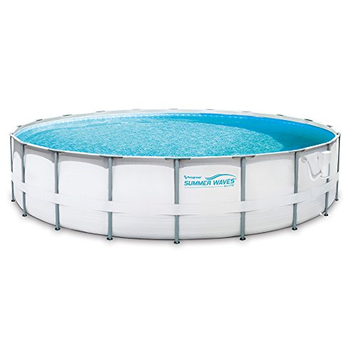 Summer Waves Elite 20' Ft. Metal Frame Above Ground Pool Set with Filter Pump by Summer Waves