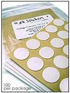 1000 Pack - Standard 20mm Wick Stickers