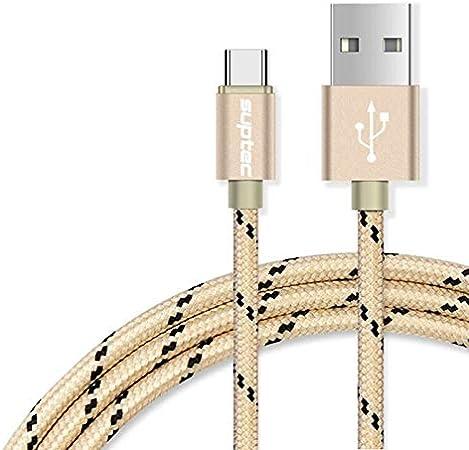 ETC KART SUPTEC USB Tipo C Cable USB Tipo-C-sincronización de Datos de Carga rápida USB-C Cable de Cargador para Samsung Huawei S8 P10 Xiaomi Mi5 6 Mi4C Mezcla (1,5 m, Silver)