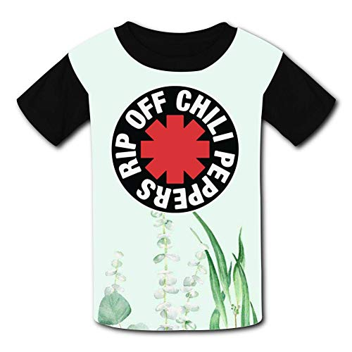 GanCheng Cool RHCP Red Hot Chili Peppers Tee Cute Black T Shirt for Toddler