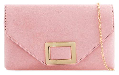 Retro Girly Plain Clutch Pink Bag HandBags 8TTxq5wz