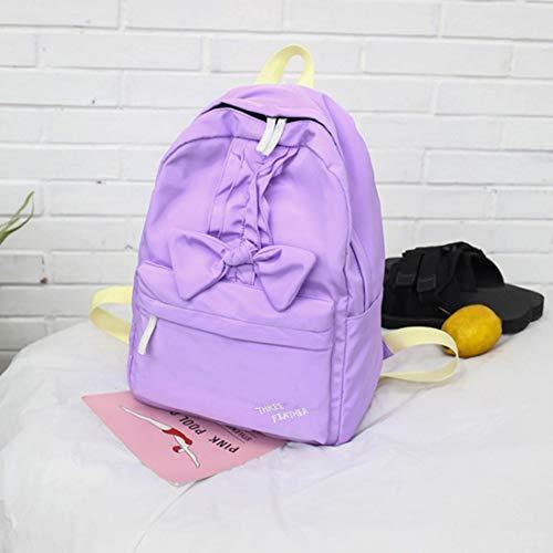 Unie Pour Capacité En Dos Dos À De color Purple Dentelle Femme Couleur Waveni Purple Bandoulière Grande Sac AwSHAv