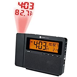Ambient Weather RC-6050 ClearView AM/FM Radio Controlled Projection Alarm Clock with Indoor Temperature