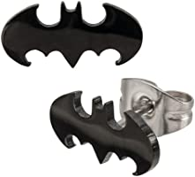 DC Comics Batman Symbol 316L Surgical Steel Stud Earrings [Jewelry]
