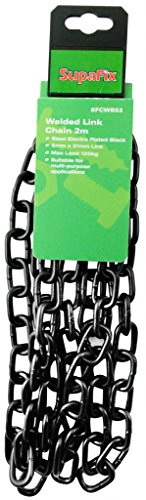 (5 x 21mm Black Electro Plated Straight Welded Link Chain)