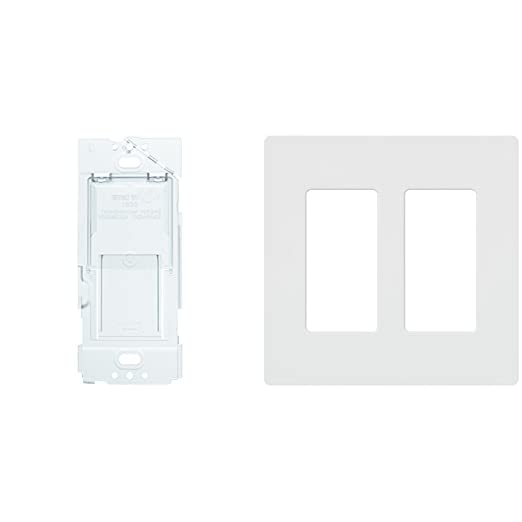 Caseta Wireless Wallplate Bracket for Pico Remote, PICO-WBX-ADAPT + Lutron Claro 2 Gang Decorator Wallplate, CW-2-WH, White - - Amazon.com