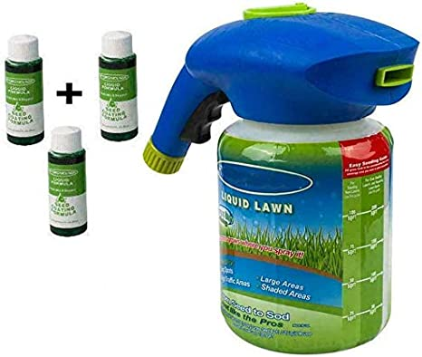 N / A Hydro Mousse Liquid Lawn Fertiliser Liquid Lawn System Grass Seed Sprayer for Seed Lawn Care Grass Shot Household Seeding System with Nutrient Solution (3pcsliquids)