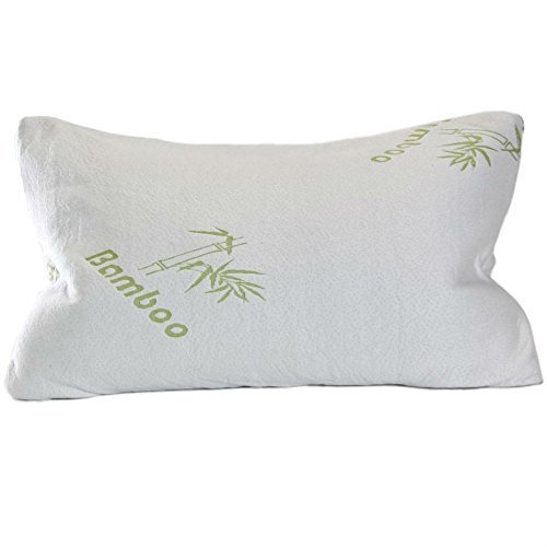 Original Bamboo Shredded Bamboo Memory Foam Pillow with Ever-Cool Adaptive Technology and Deluxe...