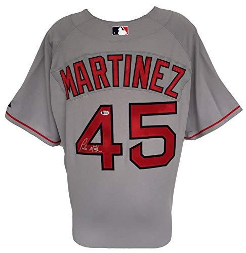 Pedro Martinez Signed Red Sox Majestic On Field Jersey (Beckett COA) (Martinez Signed Jersey)