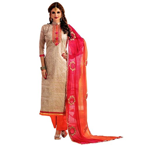 Ladyline Readymade Partywear Kora Silk Handwork Embroidery Salwar Kameez Suit