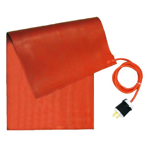 BriskHeat SRL06121 SRL Silicone Rubber Heating Blanket, Rectangular, 120V, W x L: 6 x 12-Inch - Grounded Silicone Heat Tape