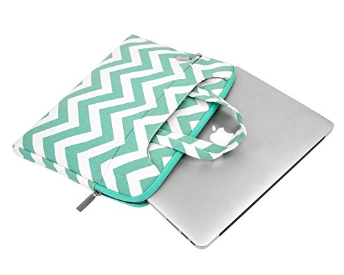 Mosiso Chevron Style Fabric Sleeve Case Cover Bag With Shoulder Strip For 15 15 6 Inch Macbook