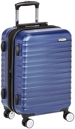 AmazonBasics Premium Hardside Spinner Luggage with Built-In TSA Lock - 20-Inch Carry-on, Blue