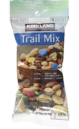 Kirkland Signature Trail Mix Snack Packs, Peanuts, M&M's Candies, Raisins, Almonds, Cashews, 2.5 oz, 18 - 25 Cashew Lb