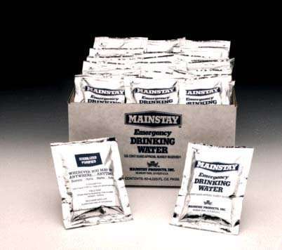 Mainstay Water Packets. Case of 60. 4.224 Ounces (125 ml) by Survivor Ind. Inc. [並行輸入品] B0186MAN7I