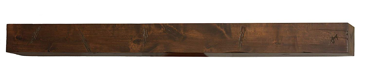 Bjorn Woodworks Shipwreck Stain Glazed Distressed Mantel Shelf (72 in.) by Bjorn Woodworks