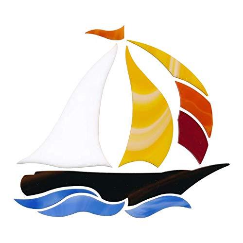 Oceanside (Spectrum) Sailboat Precut for Mosaics Supplies Non Fusible 10 pcs (Sailboat Mosaic)