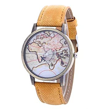 relojes de mujer, Mujer Reloj de Pulsera Cuarzo Reloj Casual Esfera Grande PU Banda Analógico