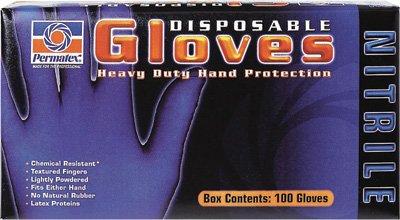 Permatex Black Nitrile Gloves XL 8186