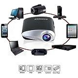 Mini Projetor Led Portátil 100 Polegadas Hdmi Vga Av-Rca Sd E USB bivolt